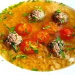 Фото - Рисовый суп с фрикадельками