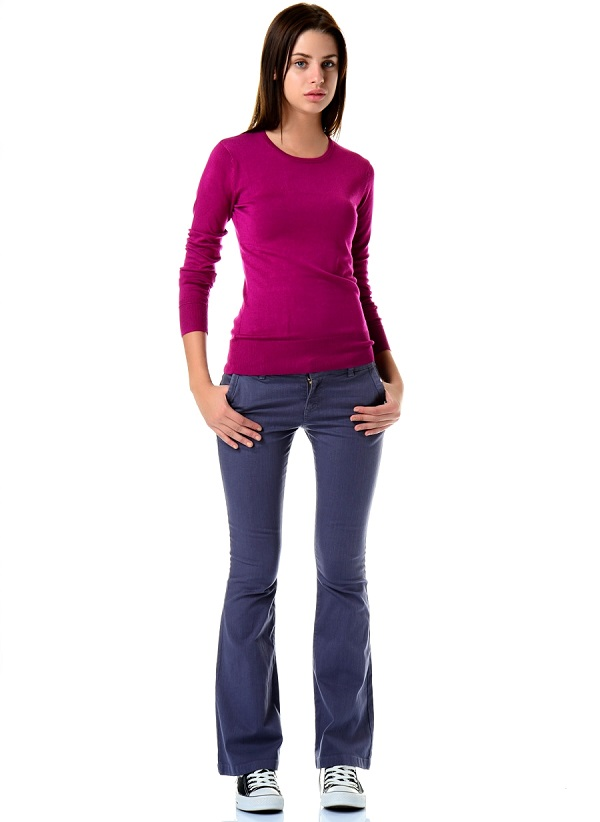 Женские джинсы клёш