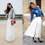 Фото - Длинная юбка. С чем носить?